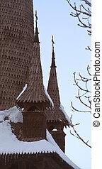 Church wooden roof