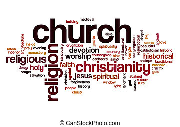 Church word cloud