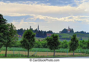 Churches and Countryside of Goricak, Croatia