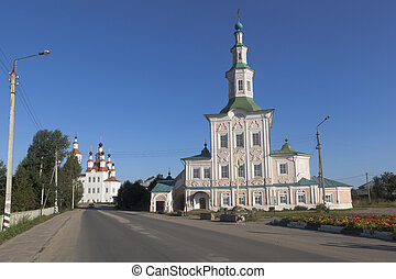 Churches Entry into Jerusalem and Nativity of Christ on Lenin Street in the city of Totma