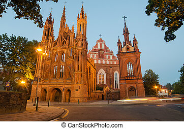 Churches in Vilnius, Lithuania - St Anne's and Bernadine's...