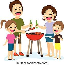 churrasco, família