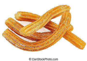 Churros isolated on white background. Traditional Mexican ...