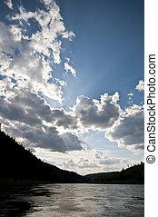 Chusovaya river. The Perm territory.