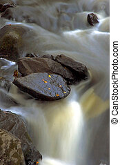 chute eau, automne