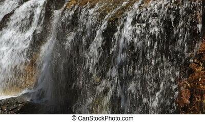 chute eau, côte