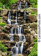 chute eau, cascader