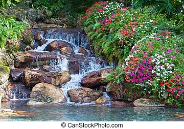 chute eau, hdr, paysage