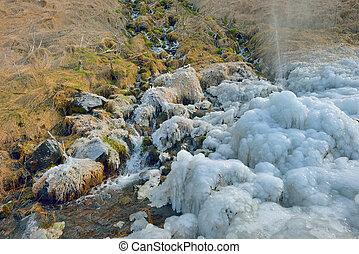 chute eau, islande, -, seljalandsfoss