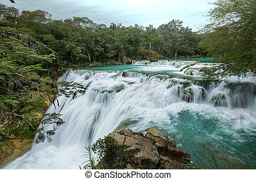 chute eau, mexique