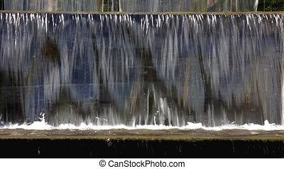 chute eau, parc, niveaux, entre