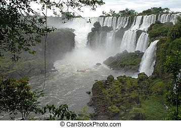 chutes d'eau, argentine, iguazu, -