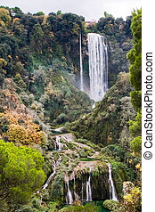 chutes d'eau, marmore, italie