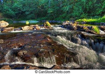 chutes, lewis, lucia, au-dessus, rivière