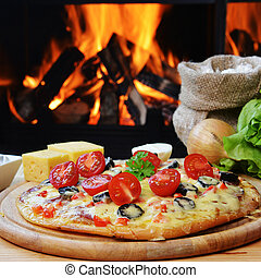 chutný, pizza