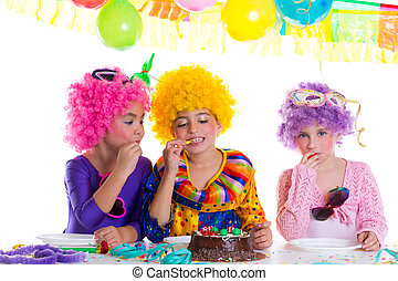 chutnat jak čokoláda, narozeniny buchta, strana, děti, šťastný