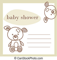 chuva bebê, cartão, anúncio