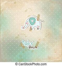 chuva bebê, cartão