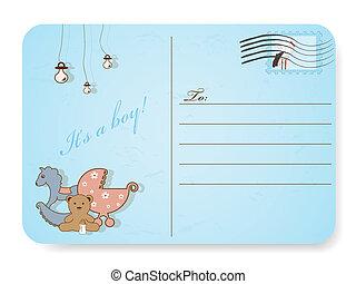 chuva bebê, cartão postal