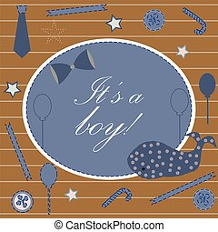 chuva bebê, convite, cartão