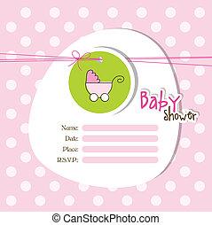 chuva bebê, convite