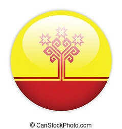 Chuvashia flag button