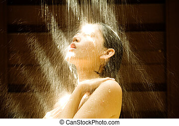 chuveiro, ao ar livre