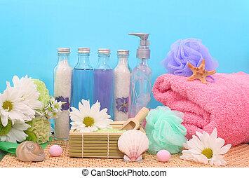 chuveiro, produtos, banho