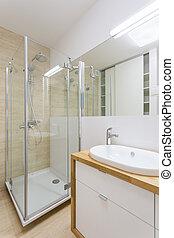 chuveiro, vidro, banheiro
