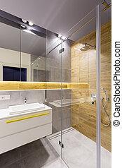 chuveiro, vidro, banheiro, cabana