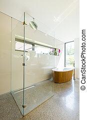 chuveiro, vidro, banheiro, modernos