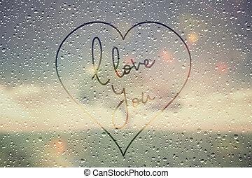 chuvoso, fraseio, amor, janela, tu