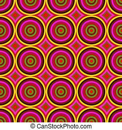 chvějící se, srdečný, barva, kruh, seamless, abstraktní, pattern.