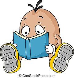 chwila, czytanie, zaciągnąć