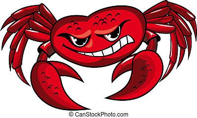 chwyta w szpony, krab, niebezpieczeństwo