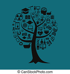 ciência, árvore