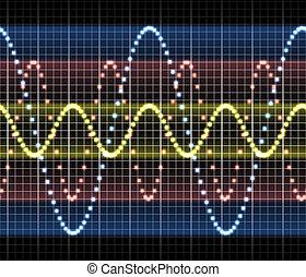 ciência, áudio, medida