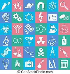 ciência, ícones