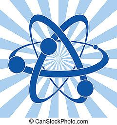 ciência, abstratos, vetorial, símbolo, átomo