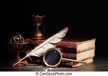 ciência, antiga, ferramentas