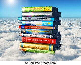 ciência, conhecimento, e, educação, conceito