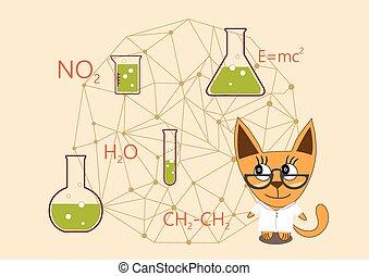 ciência, dia, dia, químico