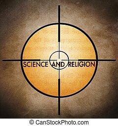 ciência, e, religião, alvo
