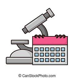 ciência, escola, microscópio