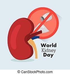 ciência, internacional, mundo, dia, rim, celebração