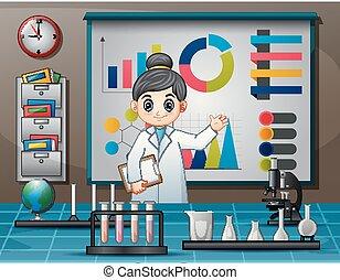 ciência, mulheres, cientista, dia, mundo