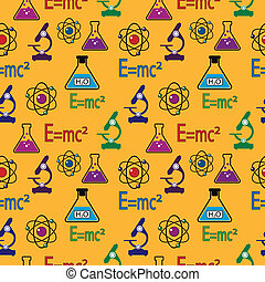 ciência, pattern., seamless