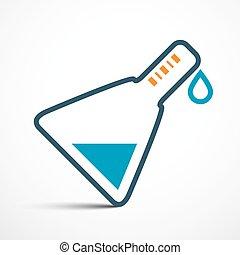 ciência, símbolo, -, ilustração, vetorial, tubo teste