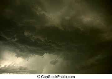 ciężki, burza