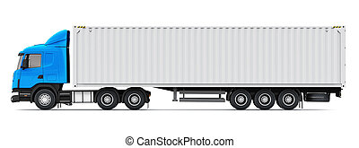 ciężki, zbiornik ładunku, 40, ft, pół--samochód